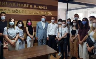 Bursa'da genç gazeteciler sahada eğitim görüyor