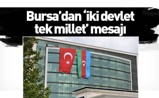 Bursa'dan 'iki devlet, tek millet' mesajı