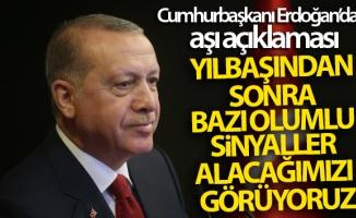 Cumhurbaşkanı Erdoğan: '(Aşı çalışmaları) Yılbaşından sonra bazı olumlu sinyaller alacağımızı görüyoruz'