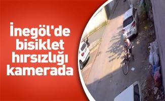 İnegöl'de bisiklet hırsızlığı kamerada