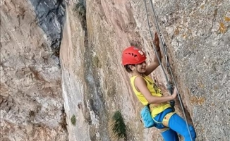 İnegöl'de küçük dağcılar antrenman yaptı