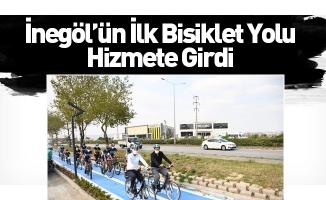 İnegöl'ün İlk Bisiklet Yolu Hizmete Girdi
