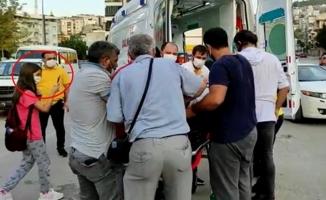 Kazada yaralanan arkadaşını görüntüledi
