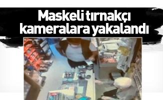 Maskeli tırnakçı kameralara yakalandı