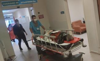 Otomobilin çarptığı yaşlı kadın yaralandı