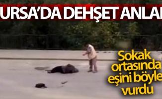 Silahı tutukluk yaptı, eşini sokak ortasında böyle vurdu...