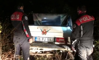 Aracında tüfek olan sürücü polisten kaçtı, ceza yedi