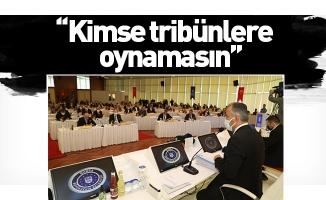 Başkan Aktaş: Kimse tribünlere oynamasın