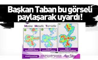 Başkan Taban bu görseli paylaşarak uyardı!