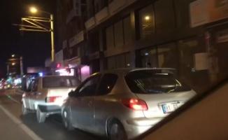 Bursa caddelerinde tampon tampona yolculuk kameralara yansıdı