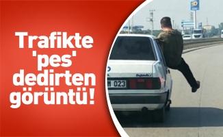 Bursa'da trafikte yapılan bu hareketler 'pes' dedirtti