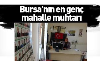 Bursa'nın en genç mahalle muhtarı