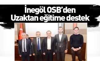 İnegöl OSB'den Uzaktan eğitime destek