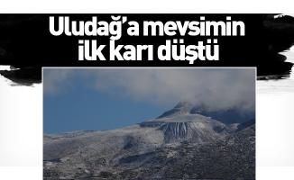Uludağ'a mevsimin ilk karı