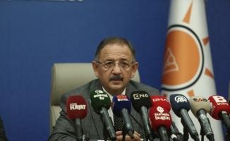 """AK Parti Genel Başkan Yardımcısı Özhaseki: """"Bizde işler istişare ile olur"""""""