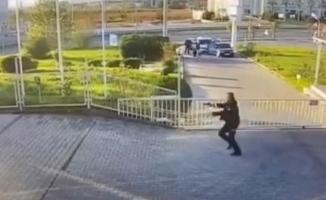 Bursa'da polise silah çekip kaçmaya çalışan zanlı kameralara yansıdı