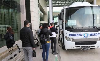 Mudanya'da sağlık çalışanlarına ücretsiz servis hizmeti