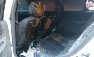 Otomobil park halinde yandı