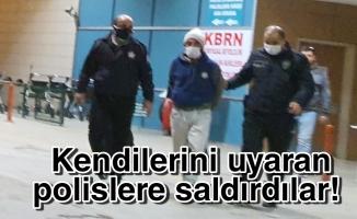 İnegöl'de polise mukavemet gösteren iki kişiye gözaltı