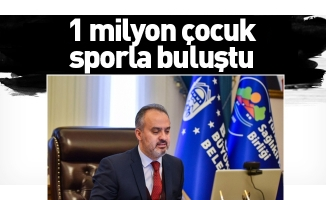 1 milyon çocuk sporla buluştu