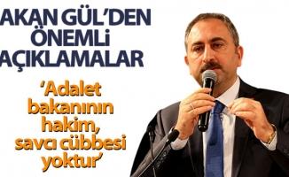 """Bakan Gül: """"Klavye başına geçip sosyal medyada bana tutuklama siparişi verenlere sesleniyorum, burada kanunlar işler"""""""