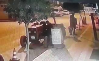 Bursa'da definecilik yapmak için traktör çalarken yakalandı