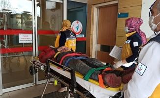 Elektrikli bisiklet sürücüsü kazada yaralandı