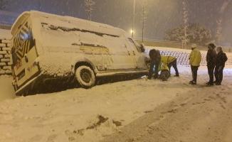 İlk Kar Kazası Yaşandı