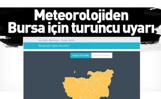 Meteorolojiden Bursa için turuncu uyarı