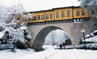 Sessiz ve karlı Bursa'dan muhteşem manzaralar