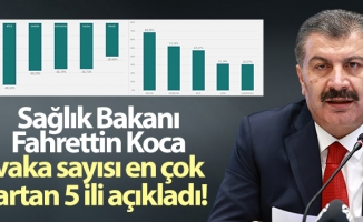Sağlık Bakanı Fahrettin Koca vaka sayısı en çok artan 5 ili açıkladı