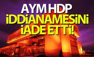Anayasa Mahkemesi, HDP iddianamesini iade etti!