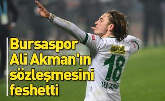 Bursaspor, Ali Akman'ın sözleşmesini feshetti
