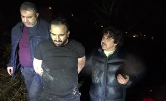 Polisten kaçan hırsızlık şüphelisi, tarlada yakalandı