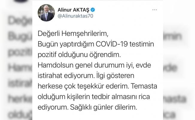Bursa Büyükşehir Belediye Başkanı Alinur Aktaş'ın korona virüs testi pozitif çıktı
