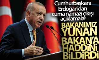 Cumhurbaşkanı Erdoğan'dan cuma namazı çıkışı açıklamalar!