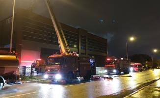 Fabrikadaki yangın akıllı buhar sistemi ile söndürüldü