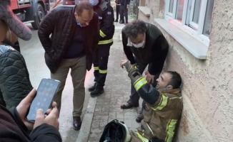 İftara dakikalar kala çıkan çatı yangını söndürüldü