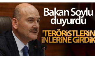 Bakan Soylu: 'Teröristlerin inlerine girdik'
