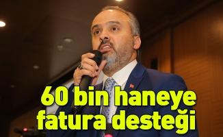 Bursa Büyükşehir Belediyesi'nden 60 bin haneye fatura desteği