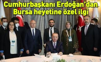 Cumhurbaşkanı Erdoğan'dan Bursa heyetine özel ilgi