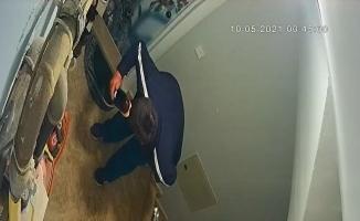 Marka meraklısı hırsız kamerada