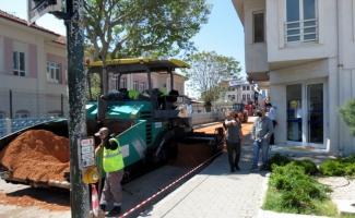 Mudanya'nın caddeleri Büyükşehir ile yenileniyor