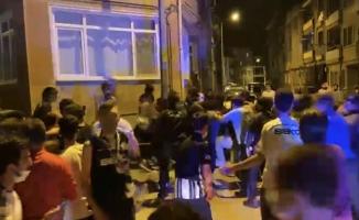 Taraftarlar birbirine girdi, olaya çok sayıda polis müdahale etti