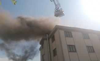 İnegöl'de öğrenci yurdunda yangın