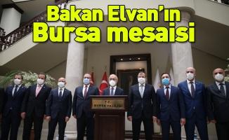 Bakan Elvan'ın Bursa mesaisi