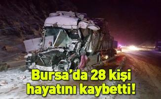 Bursa'da 5 ayda 28 kişi trafik kazasında hayatını kaybetti