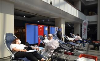 BUTTİM sakinleri kan bağışı için seferber oldu