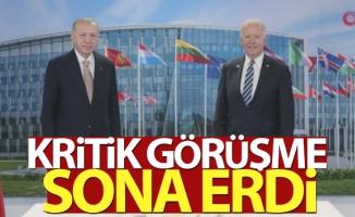 Cumhurbaşkanı Erdoğan- Biden görüşmesi sona erdi