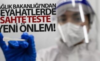 Sağlık Bakanlığı'ndan seyahatlerde sahte teste yeni önlem